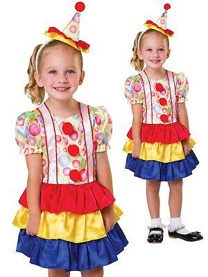 Kleinkind Mädchen Clown Kostüm Buch Woche Tag Zirkus Kostüm Outfit Alter - Kleines Mädchen Zirkus Clown Kostüm