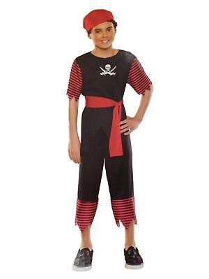 Top Halloween Costumes For Boys (Boys Scallywag Pirate Halloween Costume Top Pants Belt Headpiece)