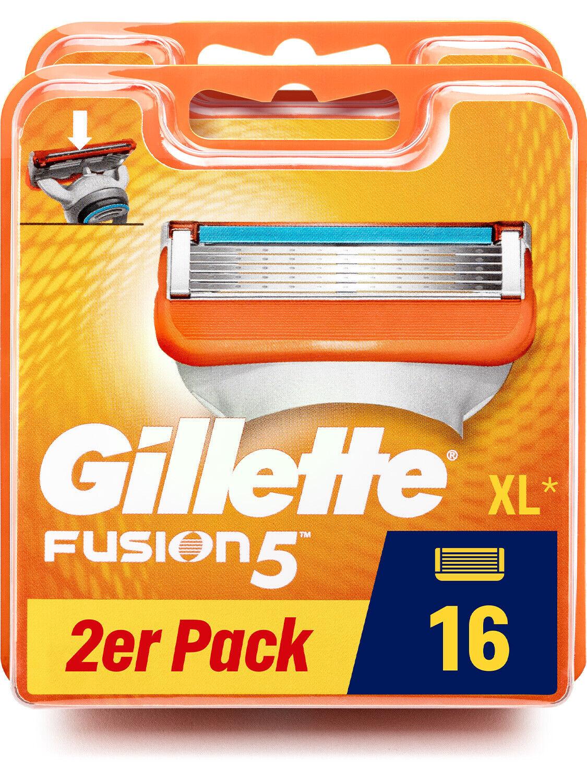 Gillette Rasierklingen Fusion 5 Originalverpackung Neu in OVP 16x Stück