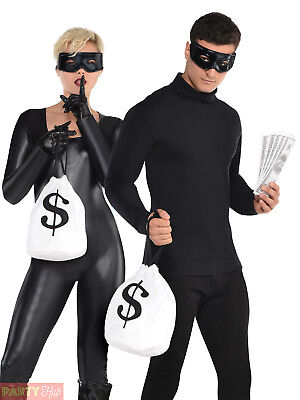 Cops And Robbers Fancy Dress (Adults Cops and Robbers Fancy Dress Accessory Burglar Bill Book Week Day Costume)