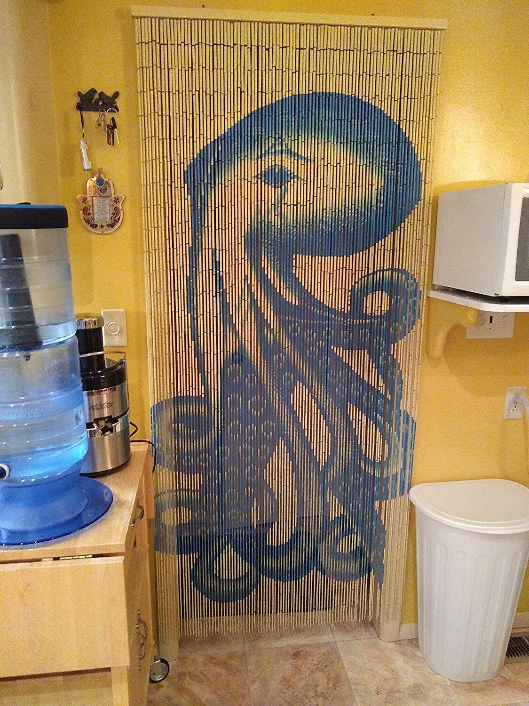 Octopus Beaded Bamboo Curtains Decor Panel Drape Window Offi