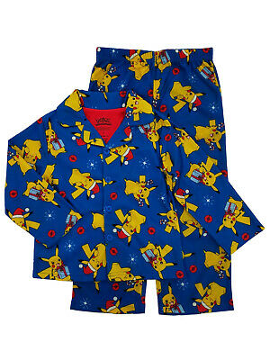 Pokemon Christmas Pikachu Little Boys 2P Flannel Sleepwear Pajamas Sleep Set 4 - Little Boys Christmas Pajamas