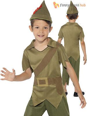 Robin Costume Kids (Boys Robin Hood Costume Fancy Dress Kids Book Week Day Outfit Childrens)