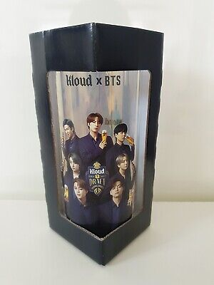 BTS X KLOUD Beer Cold Glass Official Goods BTS Hologram Cup 380ml + Tracking