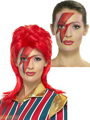 Space Superstar 80s David Bowie Makeup Lightning Bolt - Lightning Bolt Makeup