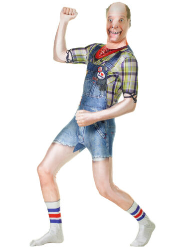 Morph FAUX Real Hillbilly Suit Men XL Full Body Halloween Costume w/ Yeehaw Hat