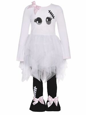 Infant & Toddler Girls Halloween Baby Outfit Ghost Mummy Dress & Leggings