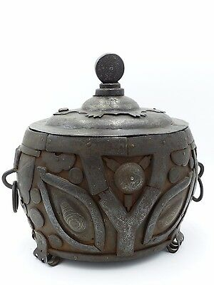Rare Antique Korean Inlaid-silver Archaic Iron Vessel
