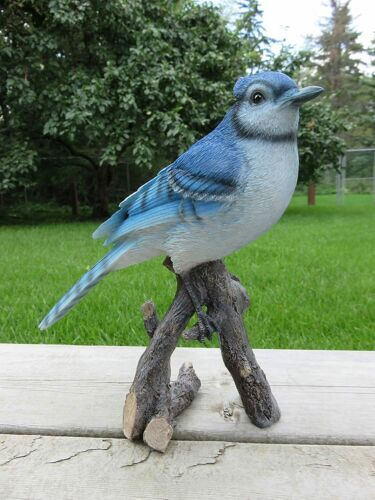 Blue Jay Figurine Resin Ornament Birds Statue Yard Decor