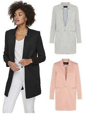 Vero Moda Damen Jacke langer Blazer vmJune W/L Long schwarz grau rosa XS bis XL ()