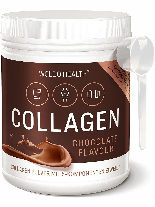 Collagen Pulver mit Schoko Geschmack ohne Zuckerzusatz 500g Nahrungsergänzung