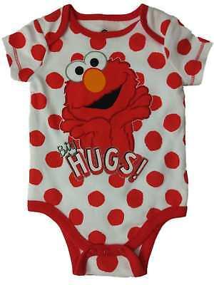 Sesame Street Big Dot - Infant Girls Sesame Street Elmo Big Hugs Single Outfit Polka Dot Baby Bodysuit