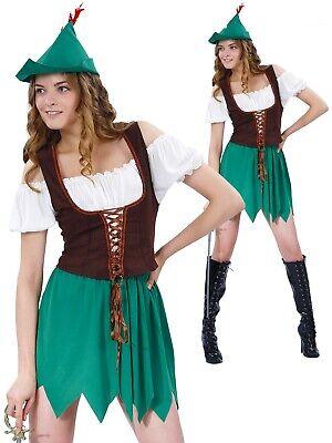 Donna Robin Hood Costume Adulti Arciere Costume Libro Giorno Settimana Completo