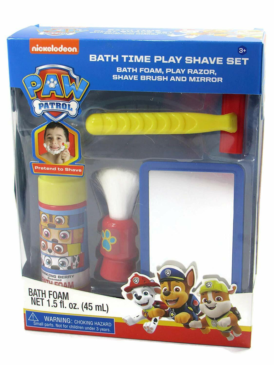 Nickelodeon Paw Patrol Bath Time Pretend Play Shave Set Gift For