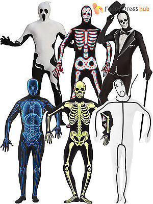 Adult Mens Second Skin Suit Halloween Fancy Dress Costume Stretchy Funny Funny