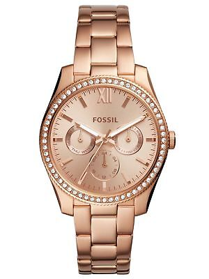 NWT FOSSIL SCARLETTE ROSEGOLD TONE STAINLESS STEEL CHRONOGRAPH WATCH ES4315