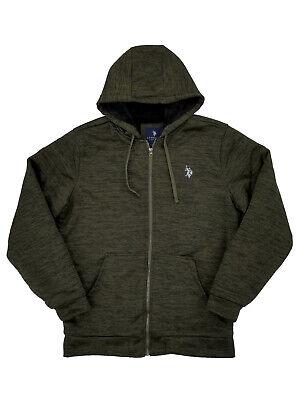 Mens Big & Tall Heather Green Fleece Lined Zip Hoodie Sweatshirt