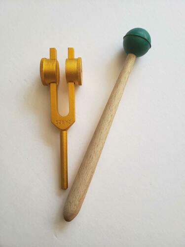 Yantra 528 Hz Gold Weighted Tuning Fork