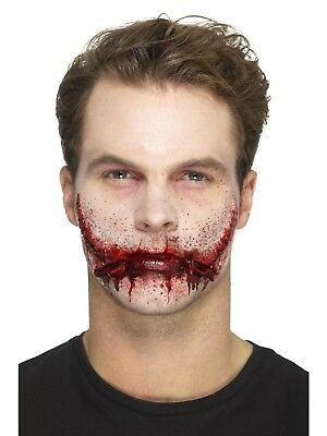 Halloween Stitched Smile Latex Scar Special Effects Make Up Fancy Dress Costume - Halloween Makeup Smile