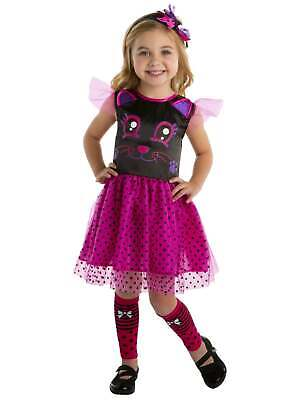 Toddler Girls Pink Kitty Cat Cutie Costume Tutu Dress Headpiece Legwarmers](Toddler Girl Kitty Costume)