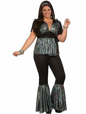 Disco Dancer 70's Retro Fever Fancy Dress Up Halloween Plus Size Adult Costume - Plus Size 70s Costumes