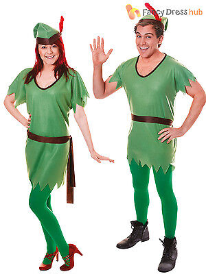 Adults Robin Hood Costume Elf Ladies Mens Fancy Dress Christmas Unisex Outfit](Ladies Robin Costume)