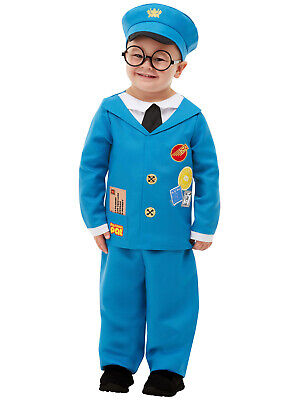 Kids Mailman Costume (Kids Postman Pat Costume Fancy Dress Cartoon Boys Toddler Outfit Book)