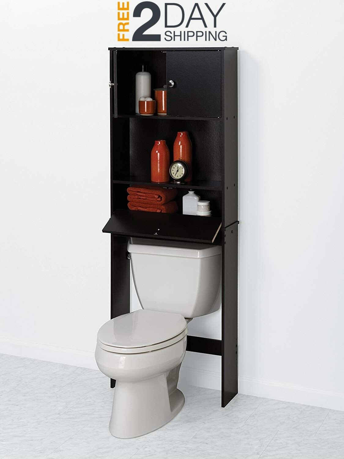 Space Saver for Bathroom Over The Toilet Storage Shelf Cabin