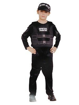 Boys Special Forces S.W.A.T. Police Halloween Costume