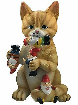 Cat Gnome Statue Massacre Figurine - Best Cats Garden Gnomes - Funny...