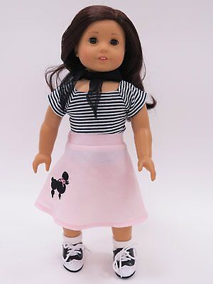 Poodle Skirt Outfit Fits 18
