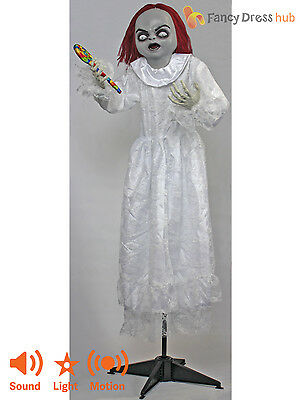 Animated Scary Girl Doll Candy Bride Of Chucky Halloween Party Prop Decoration