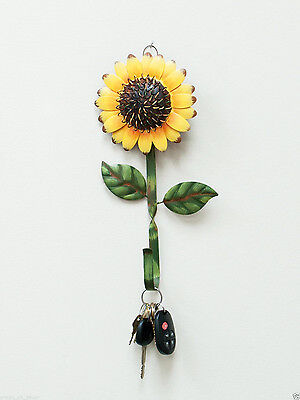 Metal Sunflower Hook Wall Home Iron Kitchen Keys Coats Utilities  Decor Hanger