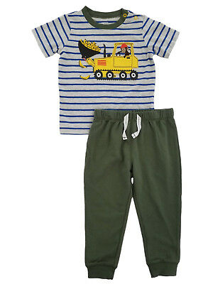 Carters Infant Boys 2-Piece Construction Monkey T-Shirt & Pants Set