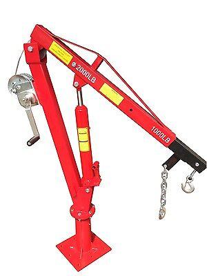 Prohoists 2000 Lb Davit Crane With Winch And Hydraulic Ram 360 Swivel 54 Boom
