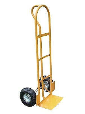 Lyte 200kg Heavy Duty P Handle Sack Truck - Industrial - Yellow - New