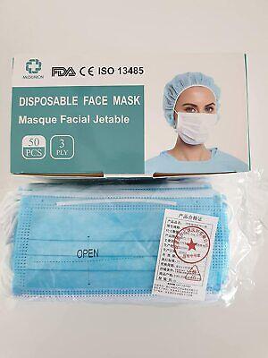 2x50 Mundschutz Einmal-Atemschutzmaske Hygienemaske 3-lagig m. Ohrschlaufen
