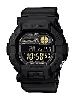 BRAND NEW CASIO G-SHOCK GD350-1B BLACK DIGITAL VIBRATION ALARM WATCH NWT!!!