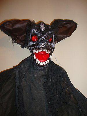 dbehang Fledermaus Dekoration Aufleuchtenden Augen & Gruselig (Halloween Große Augen)