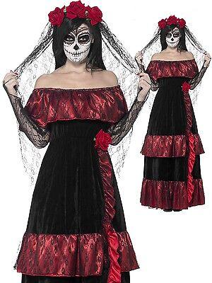 Braut Halloween Kostüm Kleid Outfit Übergröße (Tote Braut Halloween-kostüm Schwarz)