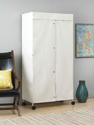 Mobile Closet Protect Hanger Storage Bedroom Decor