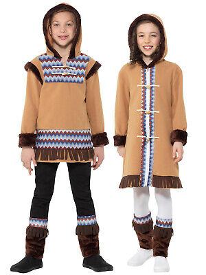 Eskimo Fancy Dress Costume (Boys Girls Arctic Costume Fancy Dress Eskimo Children Polar Ice Explorer)