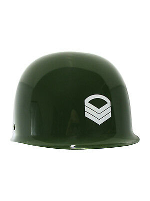 Child Kids Army Helmet Costume M1 Military Green Plastic Toy Soldier Accessory