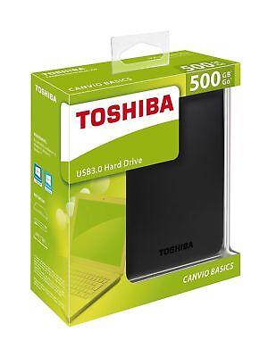 Toshiba Canvio Basics 500GB 1TB 2TB USB 3.0 Portable External Hard