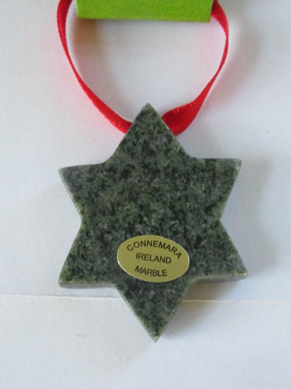 GENUINE Connemara Marble Christmas Star Decoration