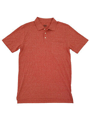 Mens Big & Tall Red Melange Quick Dry Polo Shirt (Big And Tall Quick Dry Polo Shirts)