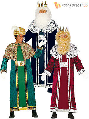 Wise Man Outfit (Mens Wise Man Men Costume Christmas Fancy Dress Three Kings Nativity Outfit)