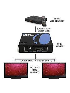 Hdmi spiliter 1x2 1080p 3d v1.3!New