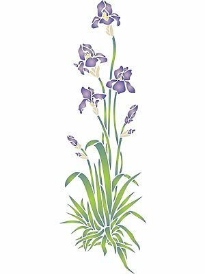 Iris Stencil Reusable Wall Painting Furniture Fabric Floor Decoration Template
