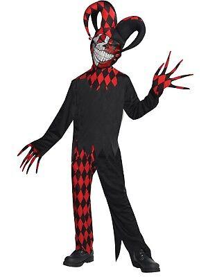 Jungen Teens Verrückt Gemacht Hofnarr Joker Halloween Kostüm Verkleiden Outfit ()